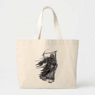 Grim Reaper Taking Souls Large Tote Bag