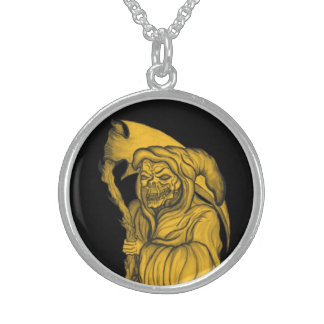 grim reaper - The Death Sterling Silver Necklace