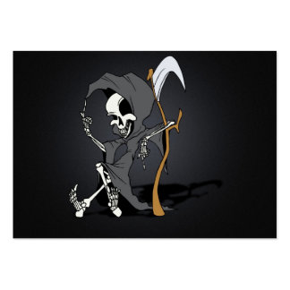 Grim Reaper Toon Large Business Cards (Pack Of 100)