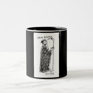 Grim Reaper Two-Tone Coffee Mug