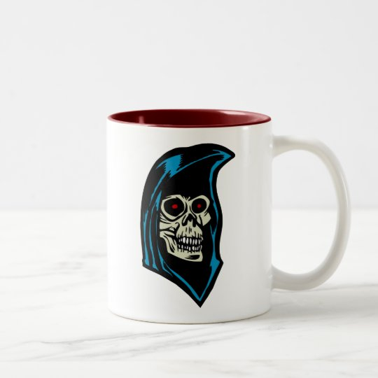 grim reaper Two-Tone coffee mug