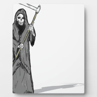 Grim Reaper Vector Sketch Plaque