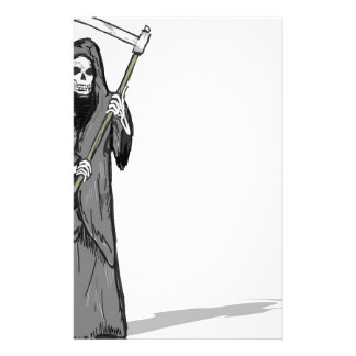 Grim Reaper Vector Sketch Stationery