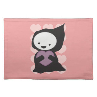 Grim Reaper with Heart Cloth Placemat