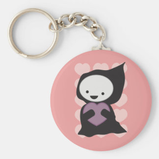 Grim Reaper with Heart Keychain