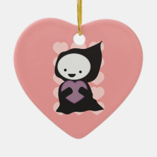 Grim Reaper with Heart Ornament