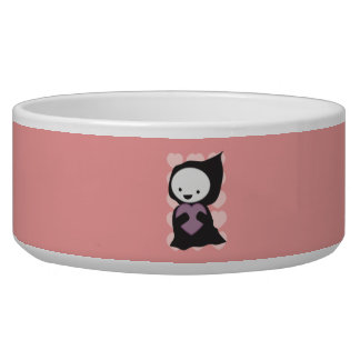 Grim Reaper with Heart Pet Bowl