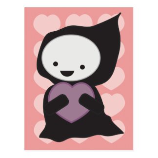 Grim Reaper with Heart Postcard