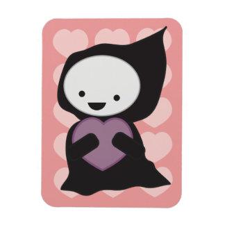 Grim Reaper with Heart Rectangular Photo Magnet