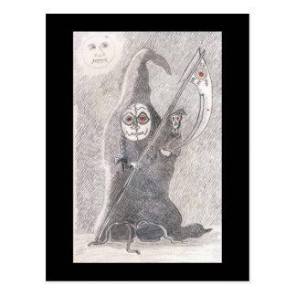 Grim Reaper's Daughter Azmerelda And Her Rat Glomp Postcard