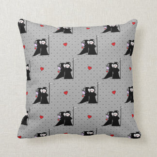 Grim Reapers Valentine Kiss of Death Pillow