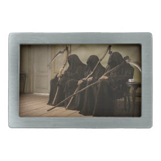 Grim Reapers Waiting For You Rectangular Belt Buckles