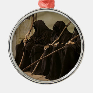 Grim Reapers Waiting For You Metal Ornament
