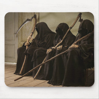 Grim Reapers Waiting For You Mouse Pads
