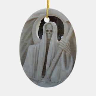 Grim Reeper Ceramic Ornament