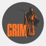 Grim Round Stickers