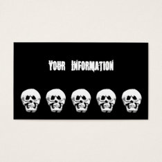 Grimacing Scary Halloween Skull Calling Card at Zazzle