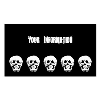 Grimacing Scary Halloween Skull Calling Card Double-Sided Standard Business Cards (Pack Of 100)