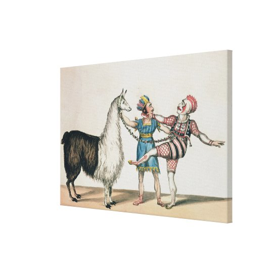 Grimaldi and the Alpaca, in the Popular Pantomime Canvas Print