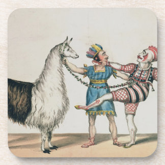 Grimaldi and the Alpaca, in the Popular Pantomime Drink Coaster