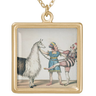 Grimaldi and the Alpaca, in the Popular Pantomime Square Pendant Necklace