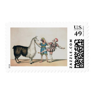 Grimaldi and the Alpaca, in the Popular Pantomime Stamps