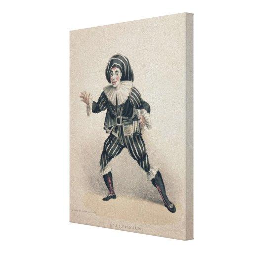 Grimaldi as Scaramouche, from the Commedia dell'Ar Canvas Prints
