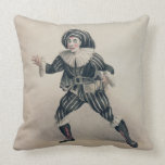 Grimaldi as Scaramouche, from the Commedia dell'Ar Throw Pillow