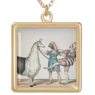 Grimaldi y la alpaca, en la pantomima popular colgante