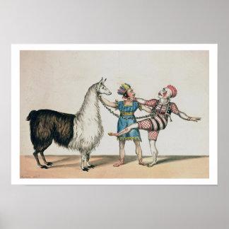 Grimaldi y la alpaca en la pantomima popular poster