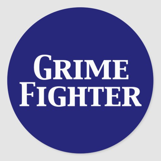 Grime Fighter Gifts Classic Round Sticker