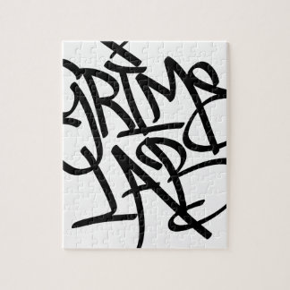 Grime Lab Graffiti Tag Jigsaw Puzzle