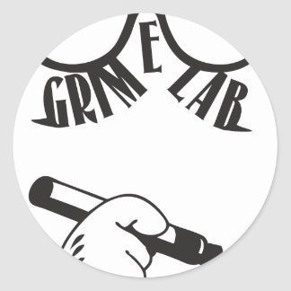Grime Lab Writer Classic Round Sticker