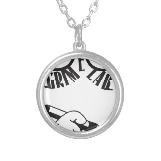 Grime Lab Writer Silver Plated Necklace