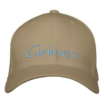 Grimes Baige Cap Embroidered Baseball Cap