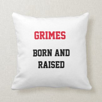 Grimes Born and Raised Throw Pillow