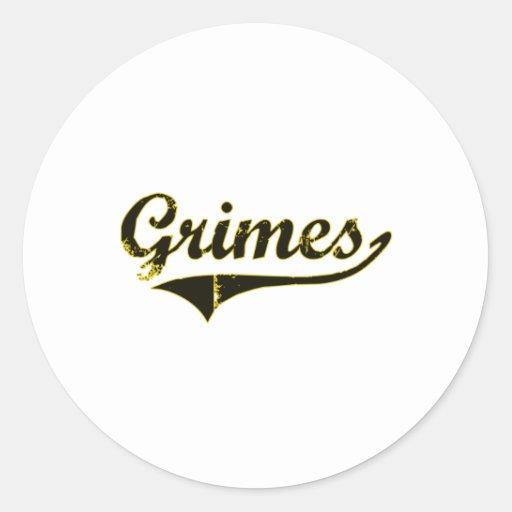 Grimes Iowa Classic Design Classic Round Sticker