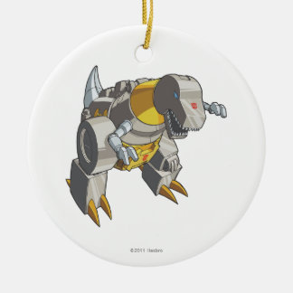 Grimlock Dino Mode Double-Sided Ceramic Round Christmas Ornament