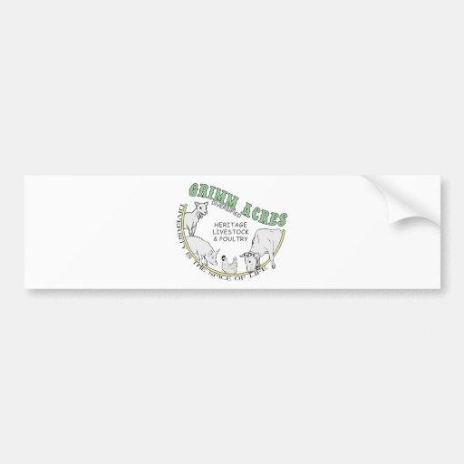 Grimm Acres, Diversified Logo Car Bumper Sticker