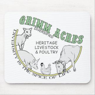 Grimm Acres, Diversified Logo Mouse Pad