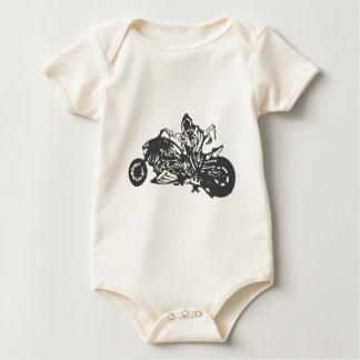 Grimm Reaper Chopper Motorcycle Baby Bodysuit