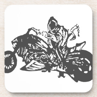 Grimm Reaper Chopper Motorcycle Beverage Coaster