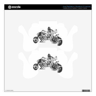 Grimm Reaper Chopper Motorcycle Decal For PS3 Controller