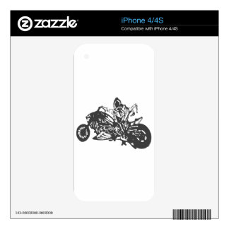 Grimm Reaper Chopper Motorcycle Decals For iPhone 4