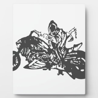 Grimm Reaper Chopper Motorcycle Plaque