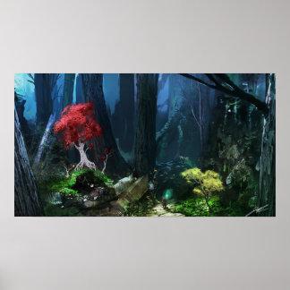 Grimoire: Manastorm Concept Art - Forest Scene Poster