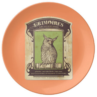 Grimoires Owl Porcelain Plate