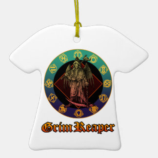 grimreaper and horoscope 2 Double-Sided T-Shirt ceramic christmas ornament