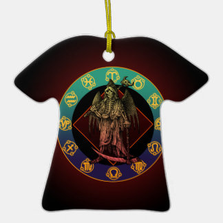 grimreaper and horoscope Double-Sided T-Shirt ceramic christmas ornament