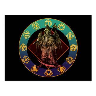 grimreaper and horoscope postcard